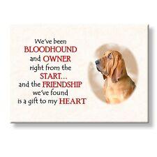 Bloodhound Friendship Fridge Magnet Love