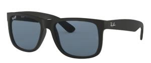 Ray-Ban Herren Sonnenbrille RB4165 622/2V 54mm Justin polarisiert schwarz S RB18