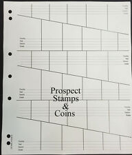 VST Coin Pages - Decimal Graded - 36 coin pockets per page - Pack of 10 pages