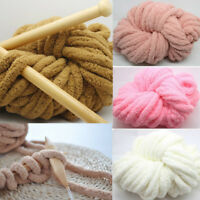 Chunky Wool Yarn Soft Bulky Knitting Wool Roving Yarn Crochet Hat Scarf Blanket
