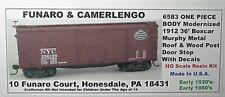 Funaro F&C HO  New York Central NYC 1912 36' Boxcar  Kit 6583