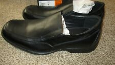 NIB S49.99 Borelli Mens Black Leather Shoes Loafer Square Toe Sz 11 Lance 320065