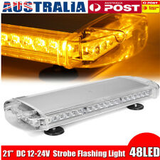 "AU 21"" 48LED Car Warning Emergency Flashing Strobe Police Light Bar Amber Beacon"
