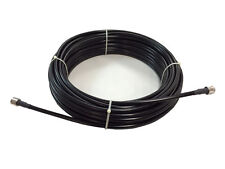 100' LMR-240  SUPER LOW LOSS COAX W/ N MALE CONNECTORS USA MADE USA DEALER FS
