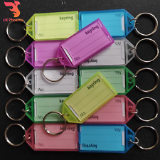 Large Key Ring Fobs Keyring Tags ID Name Card Label Keyrings Different Colours