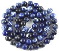 Smooth Natural Blue Sodalite 6mm Round Gemstone Beads 15''