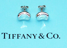 STUNNING Tiffany & Co Elsa Peretti Sterling Silver Large Bean Stud Earrings