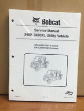 Bobcat 3400, 3400XL Utility Vehicle Service Manual Shop Repair Book 2 # 6989606