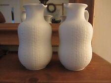 Set Of Two Collectible Royal Porzellan Bavaria KPM Germany Handerbet Vase/Jugs