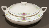 Vtg Homer Laughlin PRESIDENTIAL Round Covered Casserole Dish With Handles
