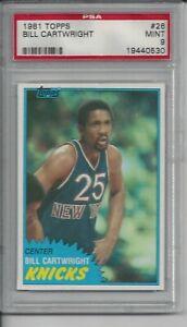 1981 Topps Basketball #26 Bill Cartwright - PSA 9