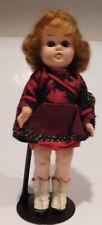 "Vintage Adorable 9"" Hard Plastic  Ginny Type Head Turning Walker Doll"