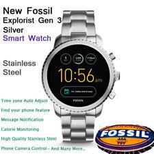 NEW Fossil  Q Luxury Gen 3 Explorist Smartwatch Silver Men's Stainless Steel