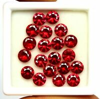 Offer Ggl Certified 10 Carat Round Cut Natural Mozambique Red Ruby Lot Gemstone