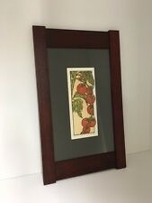 Arts&Crafts Press Yoshiko Yamamoto Matted Framed Tomatos Print Family Woodworks