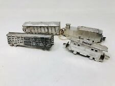 Vintage Banner Hard Plastic Silver Freight Train Toy