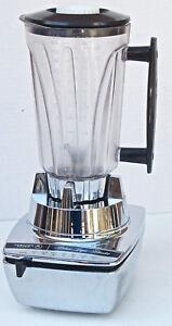 Vintage Hamilton Beach # 8 chrome mid century blender mixer pitcher 7 speed  EUC