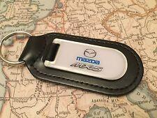 Mazda MX 5 Schlüsselanhänger bedruckt Harz beschichtet auf Leder