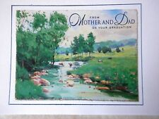 Graduation Greeting Card w/ Envelope from MOTHER & DAD Hallmark NEW