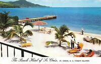Beach Hotel of St. Croix Private Beach US Virgin Islands Vintage Postcard B12