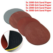 20x/Set 5'' 1000 1500 2000 3000 Grit Sanding Disc Sand Paper Hook Loop Sandpaper