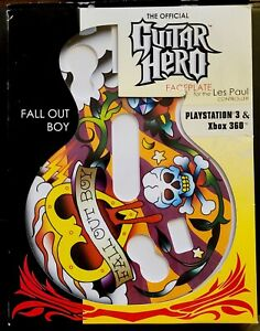 FALL OUT BOY GUITAR HERO FACEPLATE FOR LES PAUL PLAYSTATION 3 XBOX 360 NEW RARE