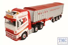 76VOL4004 Oxford Diecast OO Gauge Volvo FH4 (G) Tipper Wains Transport