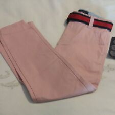 Tommy hilfiger boys Nwt size 7 light pink belted chino pants