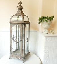 Laterne Windlicht Kuppeldach Kupfer Shabby Landhaus Vintage Metall Gr.L 82 cm