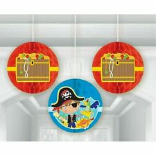 amscan 291622 Little Pirate Hanging Swirl Decorations