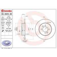 BREMBO 2x Disques de Frein Plein 08.5645.60