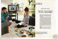 Publicité advertising 1986  (2 pages) Hi Fi téléviseur video Akai