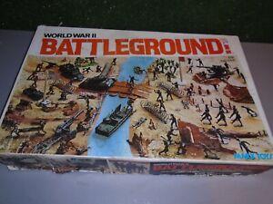 1977 Vintage Marx Battle Ground Play Set With Box #4204