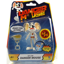 """Danger Mouse 3"""" / 8cm Action Figure with Zip Line Accessory UK 4 Years + NEW"""