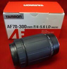 TAMRON 472DM AF70-3OOmm F/4-5.6 LD MACRO MINOLTA-AF CAMERA LENS WITH CAPS, NEW!