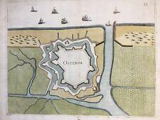 Belgium Ostend 1673 Ostenda published by Galeazzo Gualdo Priorato, antique map