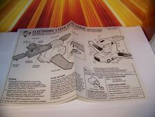Vintage Bionic Six Laser Aero Chair Instructions LJN 80s RARE SHIPS IN A BOX