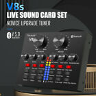 V8S External Sound Card Audio Broadcast Headset Microphone Pro Webcast Live