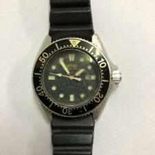 SEIKO DIVER'S 2625-0010 Black Women's Watch Working 1970's Vintage Used