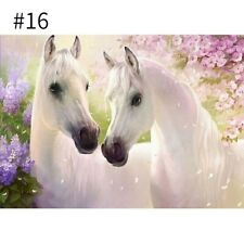 DIY Full Round Drill Diamond Painting Delicate Horse Pattern Home Decor 30x40cm