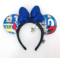 Disney Parks Sequins Donald Duck 2021 Mickey Mouse Minnie Ears Blue Headband