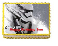 Storm Trooper Star Wars the force Awakens Edible Cake Topper 1/4 birthday