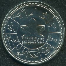 "1978 Canada Uncirculated ""11th Comm Games"" Silver Dollar(23.3 Grams .500 Silver)"