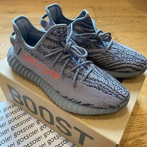 adidas Yeezy Boost 350 V2 'Beluga 2.0' AH2203 Grey Size UK 9 9.5