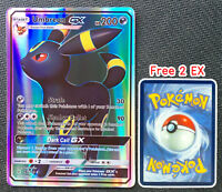 Umbreon 142/149 GX Card Pokemon Collection Plastic Card Free 2 EX