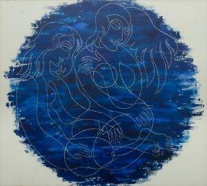 IMRE SZIGETI (1897-1975)RARE Original mixed media Abstract 1950 Charles Blackman