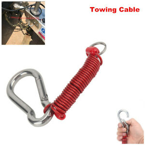 1PC Foot Breakaway Cable Spring Clip RV Trailer Towing Connector Wire 80-01-2160