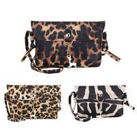 Animal Print Deer Small Women Girl Messenger Bag Leather Shoulder Crossbody Bags