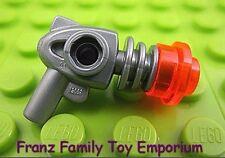New LEGO Weapon Silver Space Alien Ray GUN Translucent Neon Orange Blaster Parts