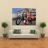 MOTORBIKE MOTOCROSS SEXY BABE BIKE  GIANT POSTER WALL ART PRINT PICTURE X1376